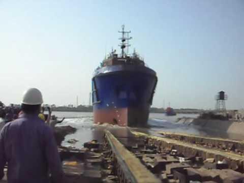 Launching of Sea Marten at ABG Shipyard Surat
