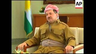 AP interview with Kurdish leader Massoud Barzani