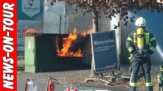 15.02.2017 | Stromkasten in Flammen (Vollbrand) Einsatz Feuerwehr Gummersbach in Vollmerhausen (NRW)