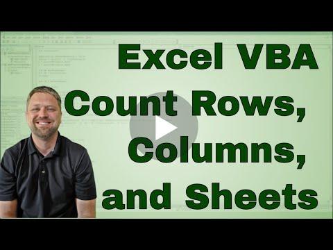 Using Count In Excel Vba Macro