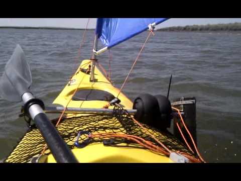 C mo fabricar una vela casera para el kayak navegando con - Como fabricar velas ...