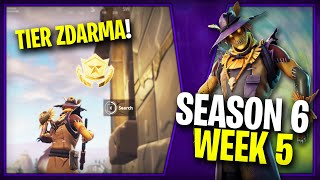 WHERE is the THIRD FREE TIER FOR SEASON 6 (Week 5)-Fortnite Battle Royale CZ/SK