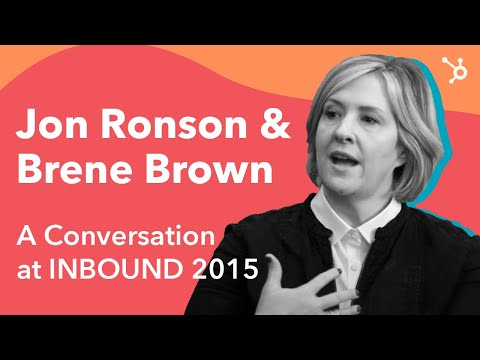 Jon Ronson and Brene Brown: A Conversation at INBOUND 2015, Full Version