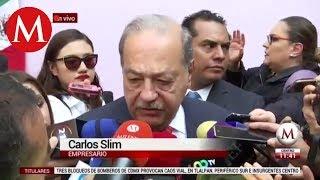 Hay que darle tiempo a AMLO, lleva apenas 100 días: Carlos Slim