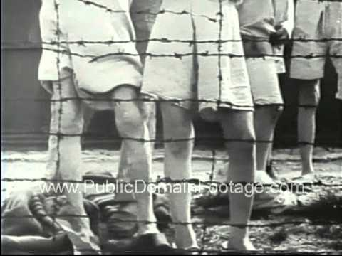 Buchenwald Nazi Concentration Camp Liberation footage - stock footage - www.PublicDomainFootage.com