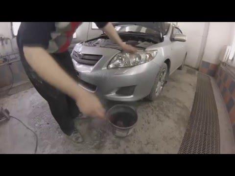 Toyota Corolla делаем передний порванный бампер, красим, выставляем зазоры и полируем фары