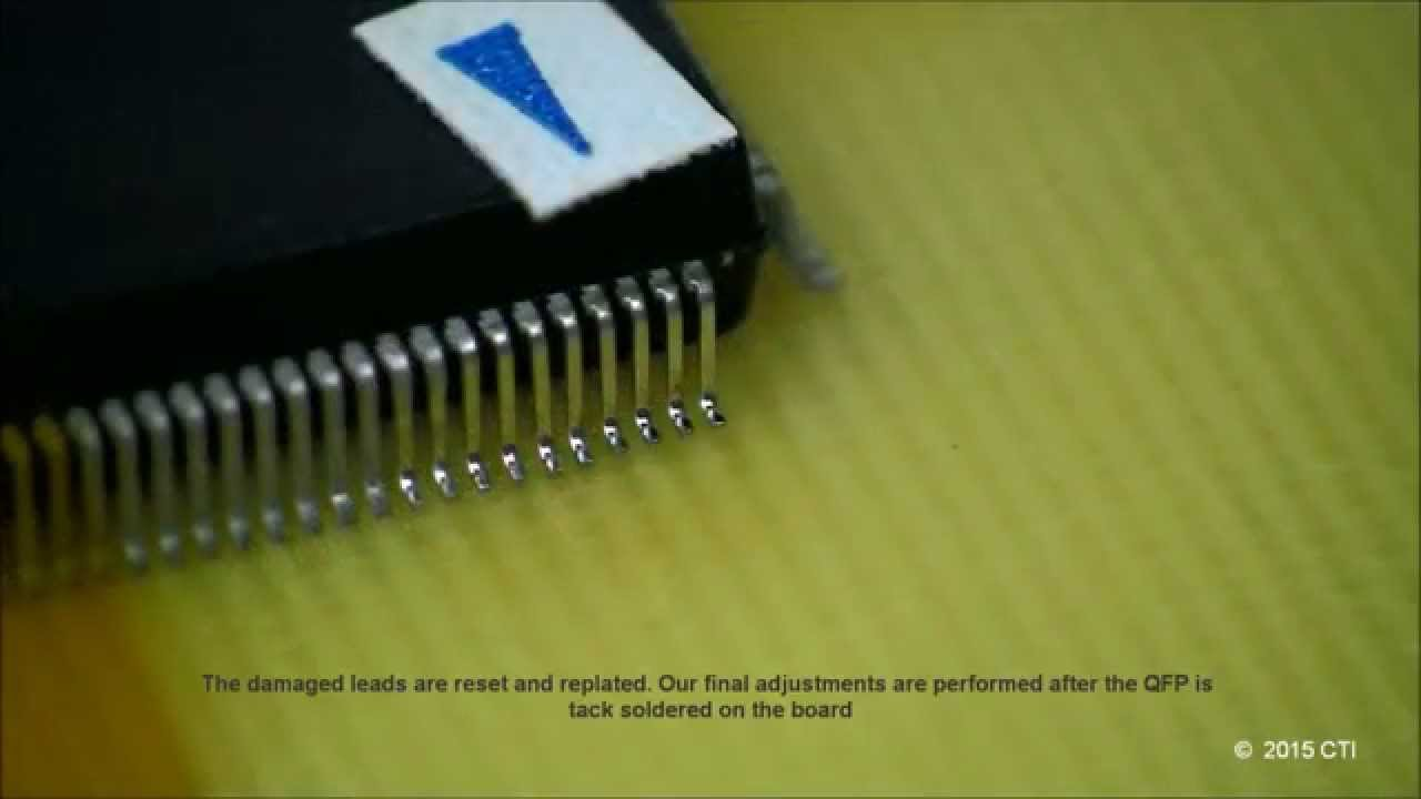 Professional Hand Soldering: Surface Mount QFP 208 Fine-Pitch