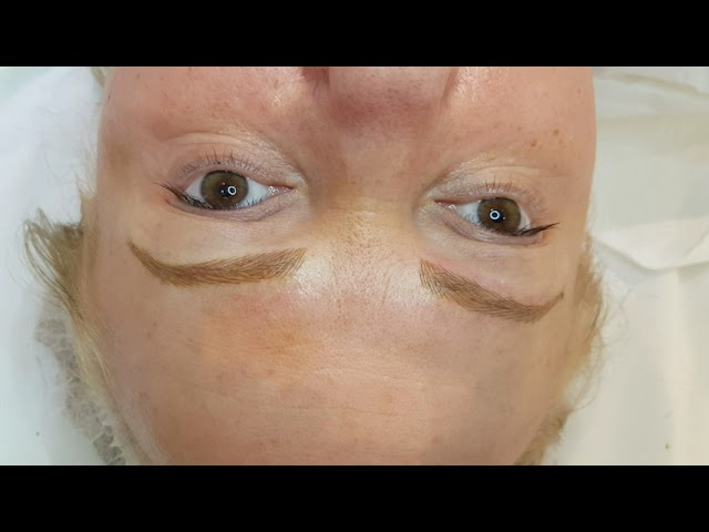 Blonde Eyebrows Structured Realism Microblading by El Truchan @ Perfect Definition