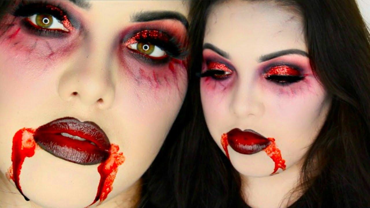 vampire halloween makeup tutorial youtube. Black Bedroom Furniture Sets. Home Design Ideas