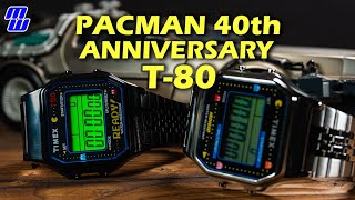 Timex T80 40th Anniversary PacMan Edition AND Old PacMan Edition