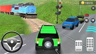 Parking Frenzy 3D Simulator Cars SUV Green And Trains #32 - Best Android Gameplay