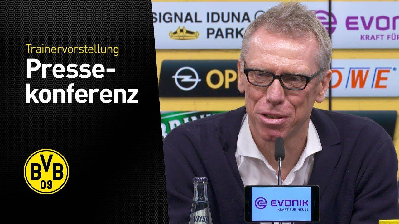 Pressekonferenz: Vorstellung von Peter Stöger beim BVB!