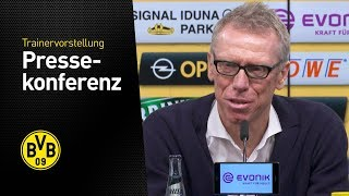 Presentation of Peter Stger as new BVB coach  Press Conference