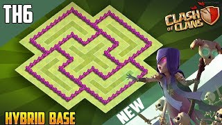 INSANE TH6 HYBRID BASE w/REPLAYS!! [CoC 2018] New Best Town Hall 6 (TH6) Base Design Clash of Clans
