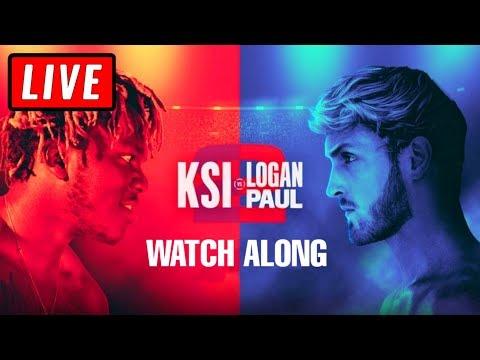 🔴 KSI VS LOGAN PAUL 2 FULL FIGHT LIVE STREAM WATCH ALONG - Live Reactions