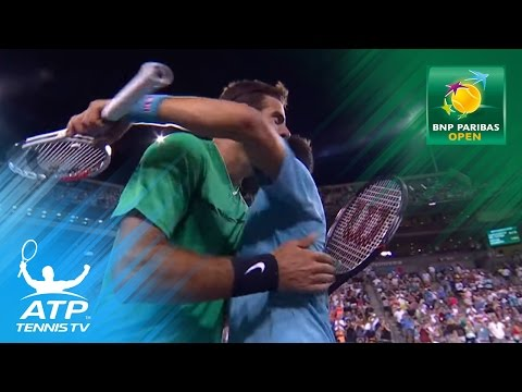 Djokovic beats Del Potro, Federer & Nadal to play   Indian Wells 2017 Highlights Day 6