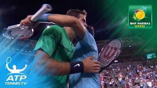 Djokovic beats Del Potro, Federer & Nadal to play | Indian Wells 2017 Highlights Day 6