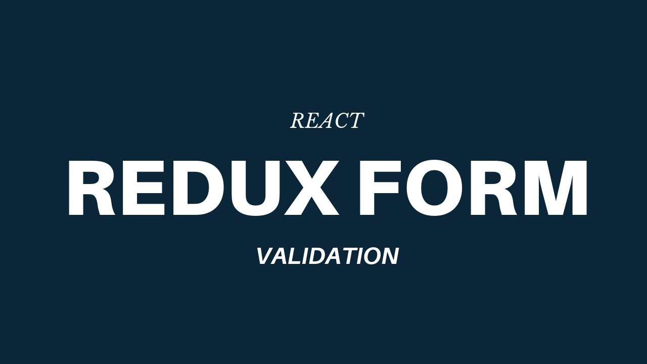 Build a React + Redux App with TypeScript and Redux Form