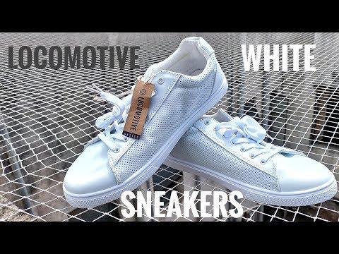 LOCOMOTIVE Men White Sneakers Unboxing