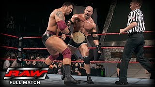 vuclip WWE | GOLDBERG VS BATISTA | (FIRST AND LAST TIME EVER)