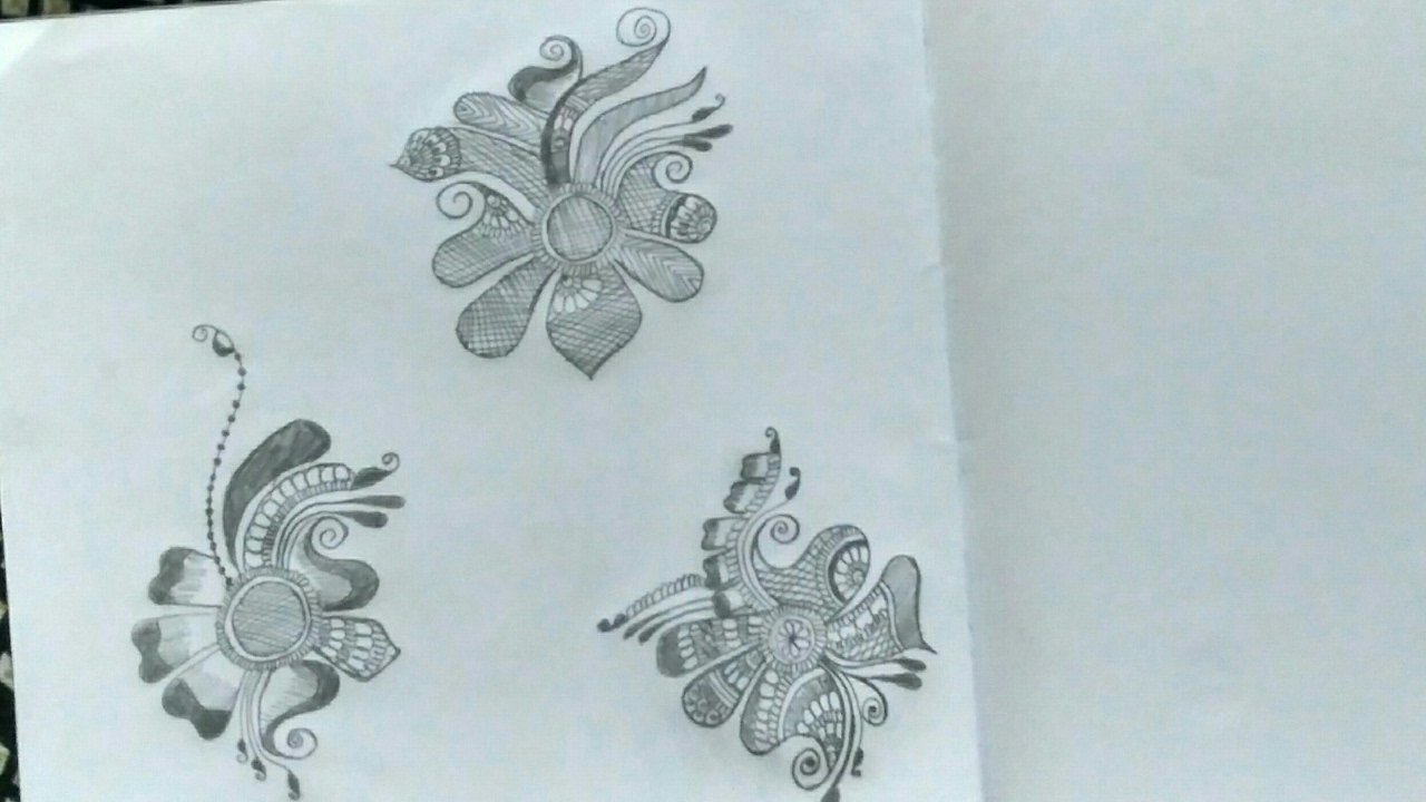 Easy Mehndi Patterns On Paper : How to make a mehndi design learn basic shapes for beginners easy