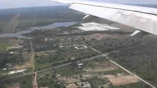 B767 landing at Lusaka Zambia