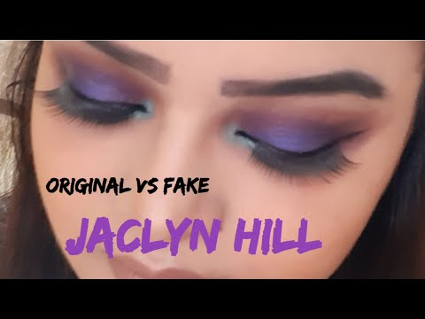 Orginal vs Fake Jaclyn Hill Palette review and Tutorial ||Moon Maker |Urdu/Hindi thumbnail
