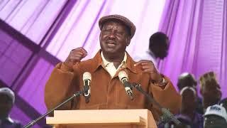 RAILA ODINGA  SPEECH AT LABOUR DAY HAS TURNED ON KENYAN POLITICS AGAIN