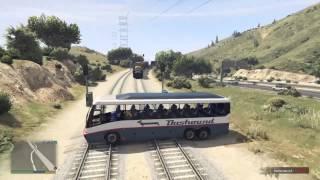 GTA V : Trains Hits Car And Trucks # 1
