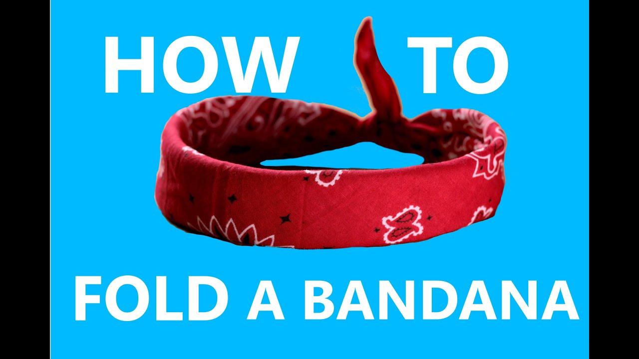 how to put on a bandana