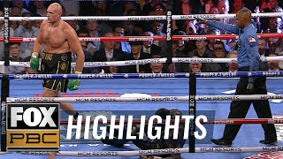 Tyson Fury knocks down Deontay Wilder, nearly puts away fight in Round 5 | HIGHLIGHTS | PBC ON FOX