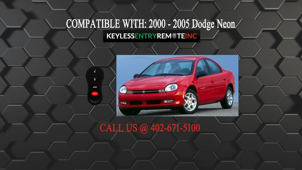 How To Replace Dodge Neon Key Fob Battery 2000 2001 2002 2003 2004 2005