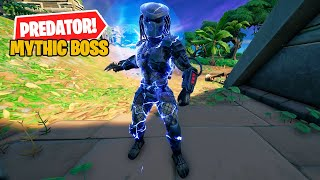 NEW Predator Mythic Boss & Predator's Cloaking Device Mythic Weapon - Fortnite v15.21 Update