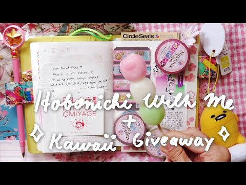 Hobonichi With Me | Sakura Drone Video + Kawaii CCS & Sailormoon Stationery Giveaway! 🌸