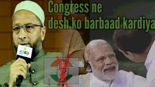 Asaduddin owaisi latest speech and debate on aajtak |Congress be muslamo ka Kabhi acha Nahi socha ^