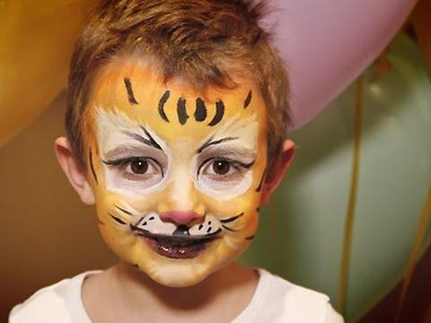 Maquillaje de tigre para Carnaval