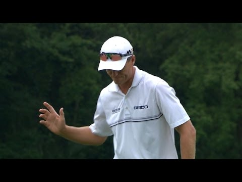 John Senden makes long-range birdie putt at Zurich