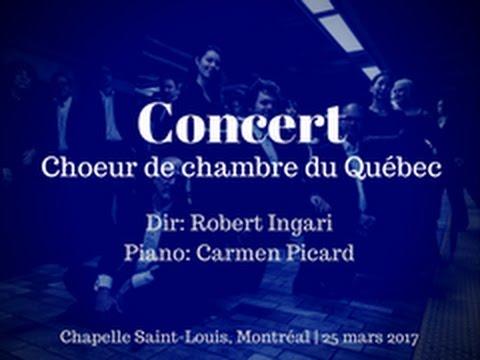 CONCERT | Choeur de chambre du Québec, 25 mars 2017