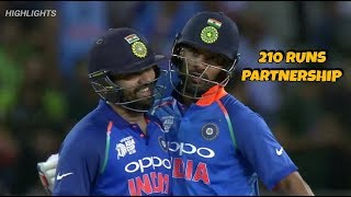 IND VS PAK || 210 Runs Opening Partnership ||  Rohit Sharma & Shikhar Dhawan || Highlights