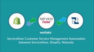 ServiceNow Netsuite Shopify Integration with Workato
