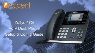 Zultys 47G VoIP Desk Phone Setup Guide