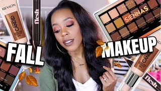 ISSA FALL LOOK! | TESTING NEW DRUGSTORE AND HIGH END MAKEUP | Andrea Renee