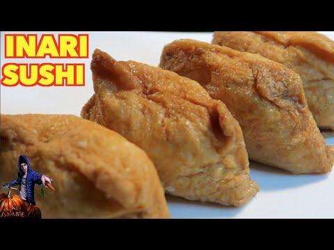 How To Make Inari Sushi The Vegan Zombie Youtube