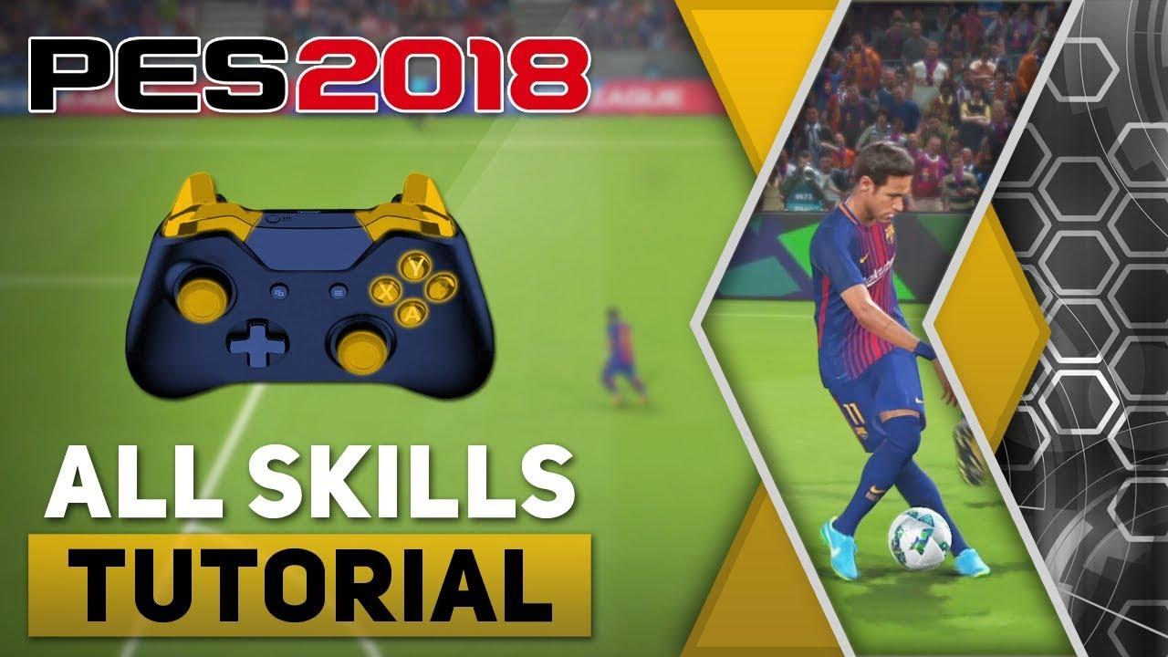 PES 2018 All Tricks and Skills Tutorial | Evo-Web