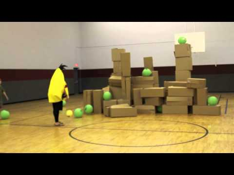 Life Size Angry Birds Game for Youth Ministry - YouTube