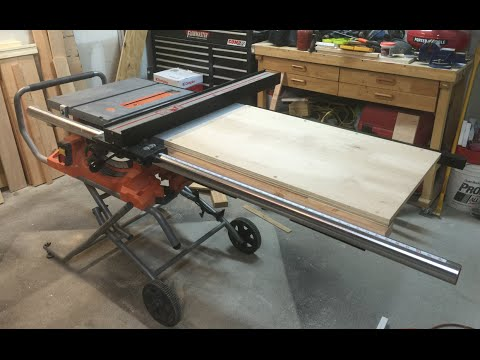 Table Saw Extension Wing