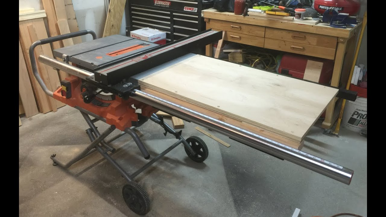 Table saw extension wing youtube greentooth Image collections