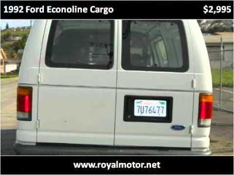 1992 ford econoline cargo used cars san leandro ca youtube. Black Bedroom Furniture Sets. Home Design Ideas