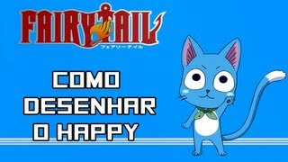 Como Desenhar o Happy do Fairy Tail