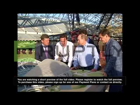 Russia: David Cameron gets the grand tour of Sochi Olympic venues
